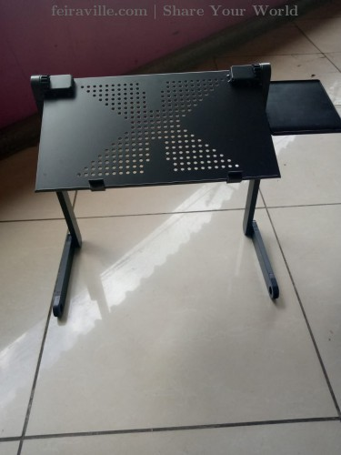 Classy and unique laptop stand.